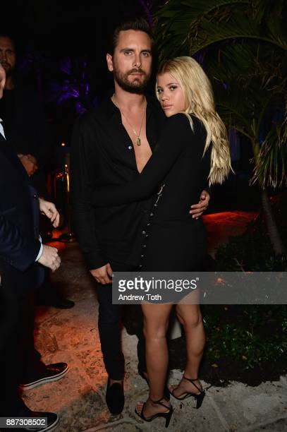 Scott Disick and Sofia Richie attend DuJour's Jason Binn And WellNEST Celebrate Miami Beach's Art Basel KickOff at The Confidante on December 6 2017...