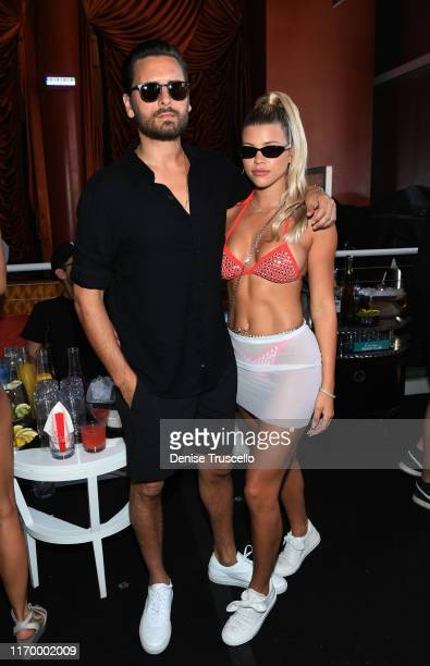 Scott Disick and Sofia Richie celebrate Sofia Richie's 21st birthday at Encore Beach Club At Wynn Las Vegas on August 24 2019 in Las Vegas Nevada