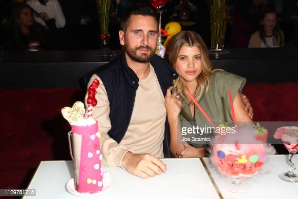 Scott Disick and Sofia Richie celebrate Valentine's Day at San Diego's new Theatre Box® Entertainment Complex with dinner at Sugar Factory American...