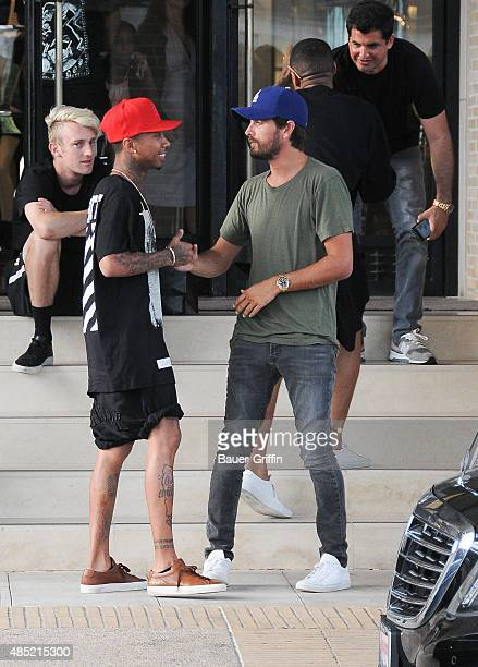 Scott Disick and Tyga are seen on August 25 2015 in Los Angeles California