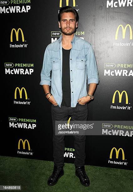 Scott Disick attends the McDonald's Premium McWrap launch party at Paramount Studios on March 28 2013 in Hollywood California