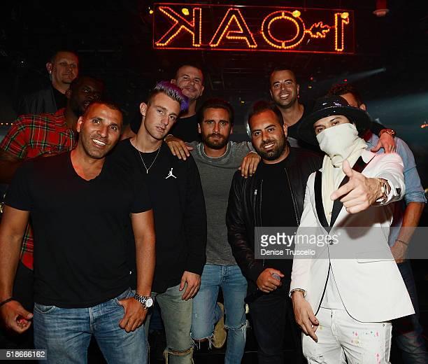 Scott Disick Eli Pacinoand Alex Monopoly attend 1OAK Nightclub at the Mirage Hotel and Casino on April 1 2016 in Las Vegas Nevada
