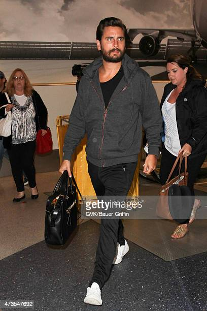 Scott Disick is seen at LAX on May 15 2015 in Los Angeles California