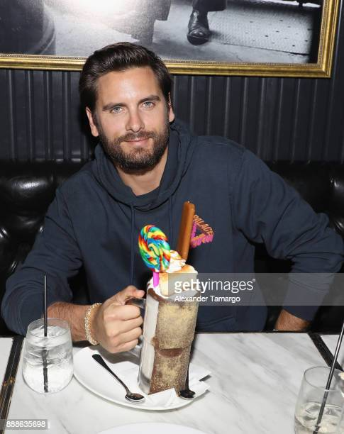 Scott Disick is seen during Art Week Party at Sugar Factory American Brasserie on December 8 2017 in Miami Florida