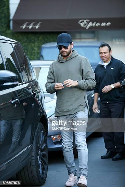 Scott Disick is seen on November 30 2016 in Los Angeles California
