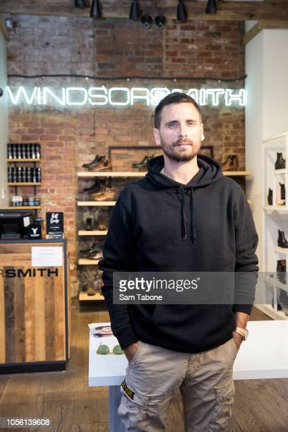 Scott Disick makes a store appearance at Windsor Smith on Bourke Street on November 2 2018 in Melbourne Australia