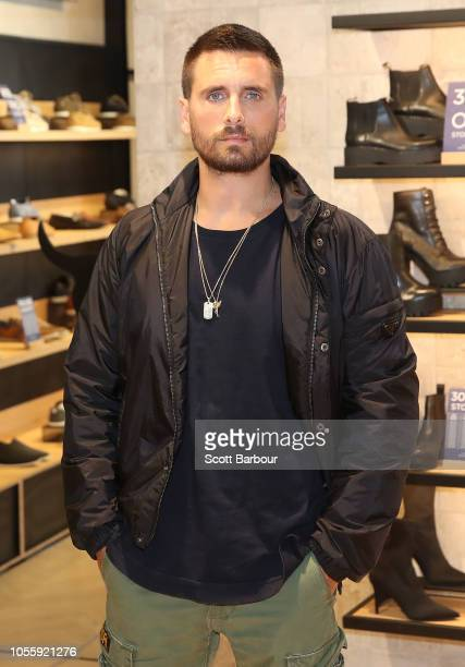 Scott Disick poses as he makes a store appearance at Windsor Smith at Chadstone Shopping Centre on November 1 2018 in Melbourne Australia