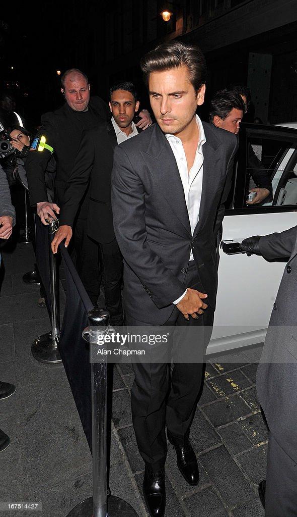 Scott Disick sighting at Anaya nightclub Mayfair on April 25, 2013 in London, England.