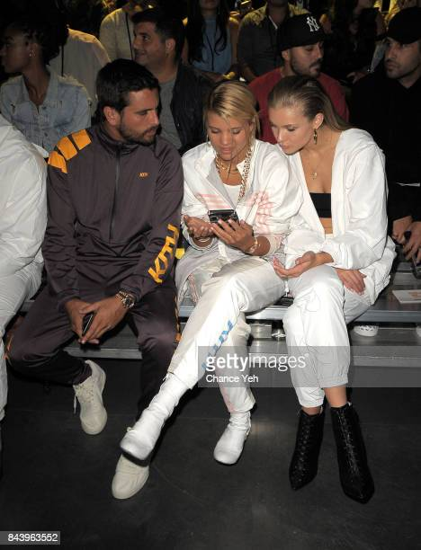 Scott Disick Sofia Richie and Josie Marie Canseco attend Kith Sport fashion show during New York Fashion Week at the Classic Car Club on September 7...
