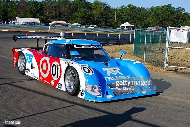 Scott Dixon and the Telmex Grand Am Race Car at the inaugural New Jersey Motorsports Park Rolex Grand Am Race