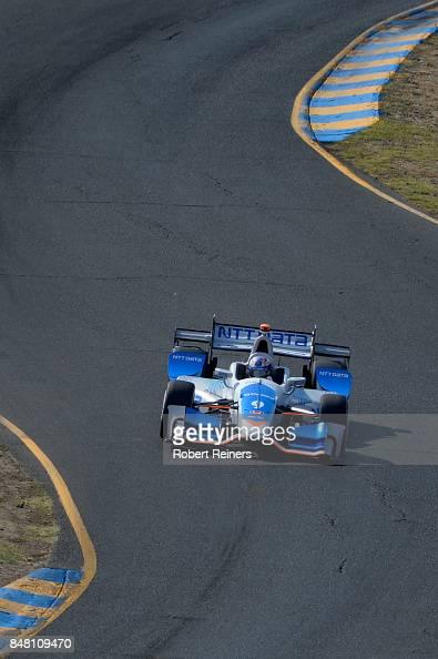 Scott Dixon, driver of the NTT Data Honda, qualifies for the
