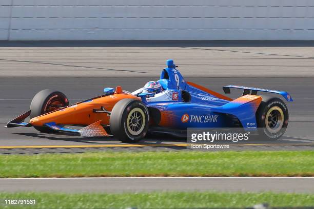 Scott Dixon driver of the PNC Bank Chip Ganassi Racing Honda drives during the IndyCar Series ABC Supply 500 on August 18 2019 at Pocono Raceway in...