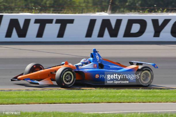 Scott Dixon driver of the PNC Bank Chip Ganassi Racing Honda during the IndyCar Series ABC Supply 500 on August 18 2019 at Pocono Raceway in Long...