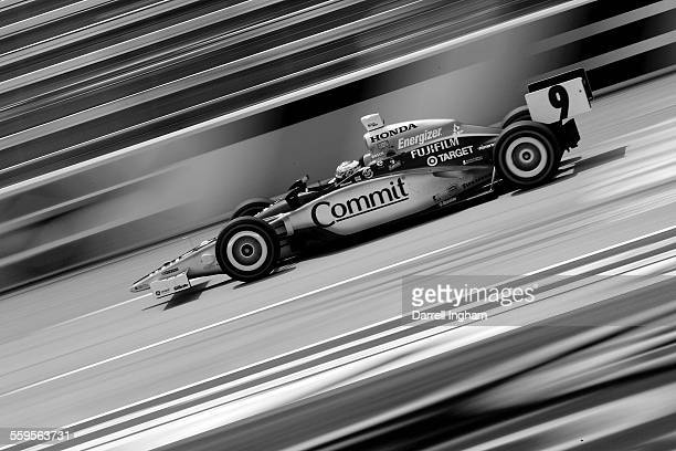 Scott Dixon drives the Target Chip Ganassi Racing Dallara Honda during practice for the IRL Indycar Series Bombardier Learjet 550k on June 8 2007 at...