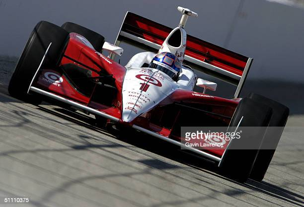 Scott Dixon drives the Target Chip Ganassi Racing Toyota GForce during practice for the Indy Racing League IndyCar Series Menards AJ Foyt Indy 225 on...