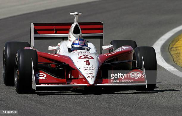 Scott Dixon driving the Target Chip Ganassi Racing Toyota GForce during practice for the Indy Racing League IndyCar Series Menards AJFoyt Indy 225 on...