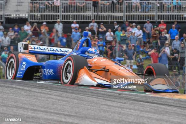 Scott Dixon of Chip Ganassi Racing driving a Honda accelerates out of turn 1 during the IndyCar Classic at Circuit of the Americas on March 24 2019...