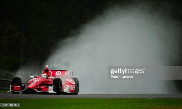 Scott Dixon of New Zealand driver of the Target Chip Ganassi Racing Dallara Honda during practice for the IndyCar Series Honda Indy Grand Prix of...