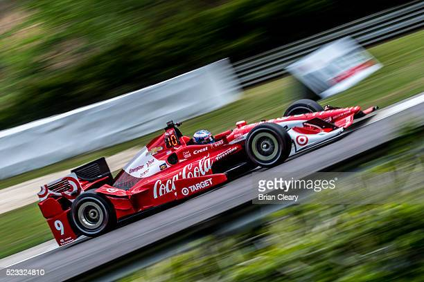Scott Dixon, of New Zealand, drives the Chevrolet IndyCar on the track during practice for the Honda Indy Grand Prix of Alabama at Barber Motorsports...