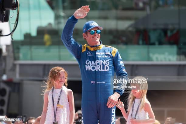 Scott Dixon prior to the 101st Indianapolis 500 on May 28 at the Indianapolis Motor Speedway in Indianapolis, Indiana.