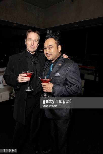 Scott Domer and Philip Cuenco attend Los Angeles Confidential Magazine and Mary J Blige celebrate the GRAMMYS at Elevate Lounge with Ciroc Premium...