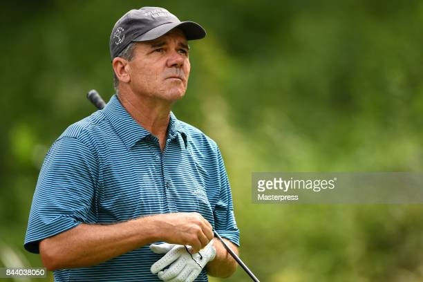 Scott Dunlap of the United States looks on during the first round of the Japan Airlines Championship at Narita Golf ClubAccordia Golf on September 8...
