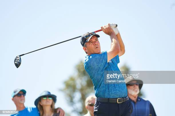 Scott Dunlap of the United States plays his tee shot at the second hole during the second round of the 2018 Cologuard Classic at Omni Tucson National...