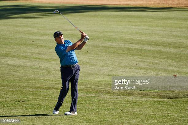 Scott Dunlap of the United States plays his third shot at the 15th hole during the second round of the 2018 Cologuard Classic at Omni Tucson National...