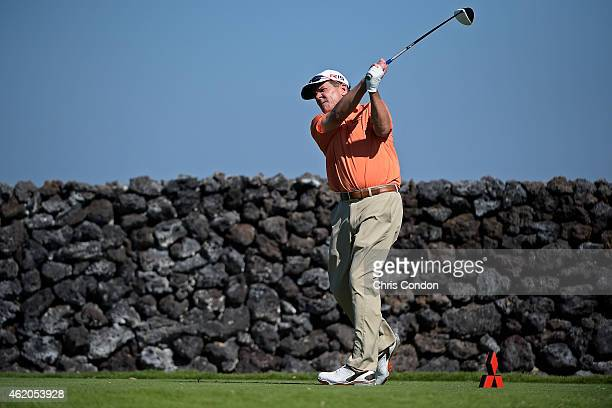 KA'UPULEHUKONA HI JANUARY 23 Scott Dunlap tees off on the 9th hole during the first round of the Champions Tour Mitsubishi Electric Championship at...