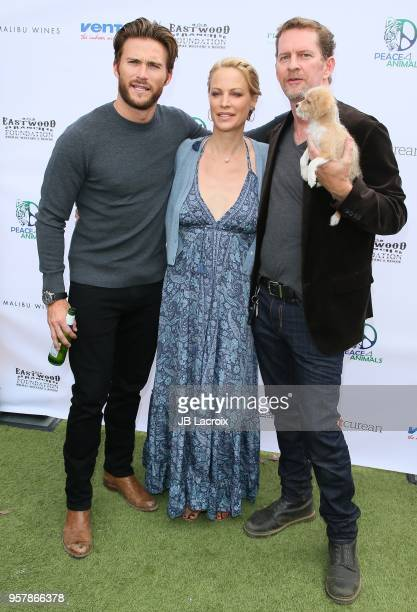 Scott Eastwood Alison Eastwood and Stacy Poitras attend the Eastwood Ranch Foundation's Wags Whiskers and Wine Event on May 12 2018 in Malibu...