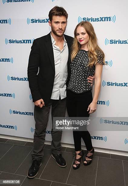 Scott Eastwood and Britt Robertson visits at SiriusXM Studios on April 8 2015 in New York City
