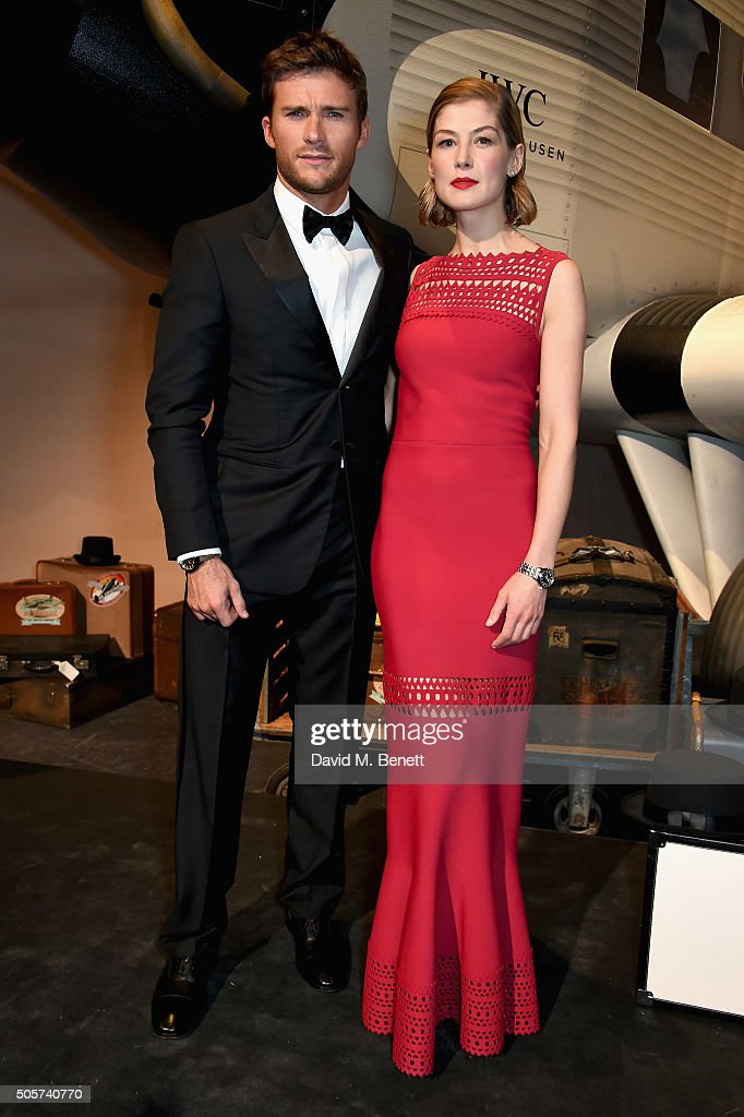 Scott Eastwood and Rosamund Pike attend the IWC 'Come Fly With Us' Gala Dinner during the launch of the Pilot's Watches Novelties from the Swiss luxury watch manufacturer IWC Schaffhausen at the Salon International de la Haute Horlogerie (SIHH) 2016 on January 19, 2016 in Geneva, Switzerland.