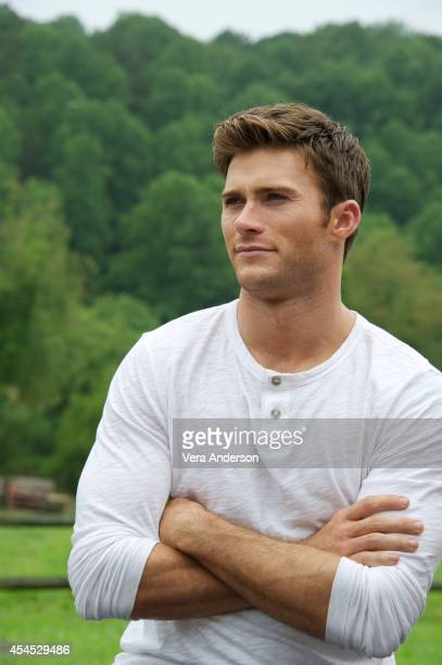 Scott Eastwood at 'The Longest Ride' set visit on August 12 2014 in Winston Salem North Carolina