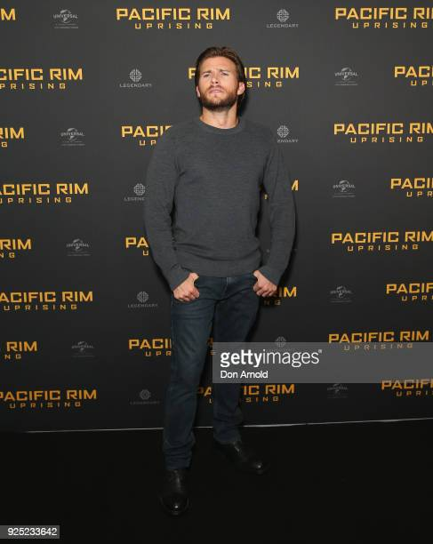 Scott Eastwood attends the Pacific Rim Uprising fan event at Event Cinemas George Street on February 28 2018 in Sydney Australia