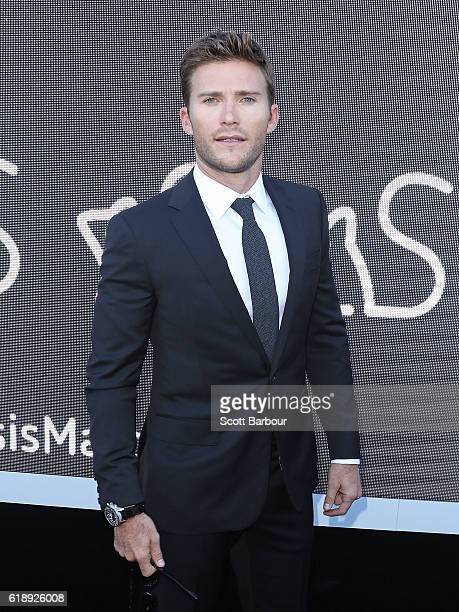 Scott Eastwood poses at the Sensis Marquee on Derby Day at Flemington Racecourse on October 29 2016 in Melbourne Australia