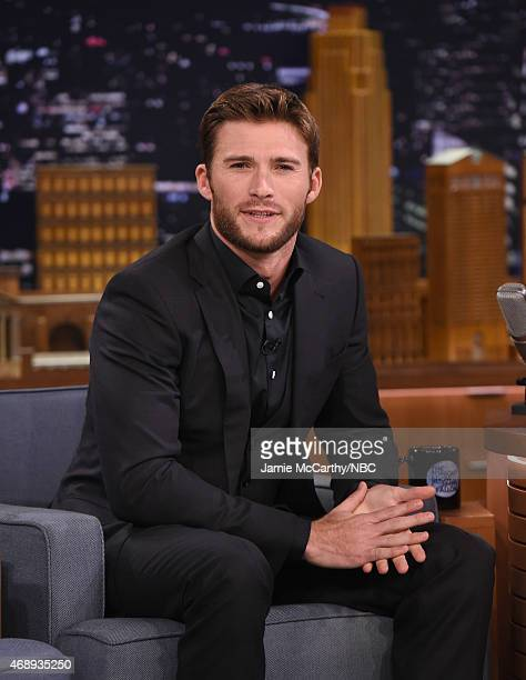 Scott Eastwood visits 'The Tonight Show Starring Jimmy Fallon' at Rockefeller Center on April 8 2015 in New York City