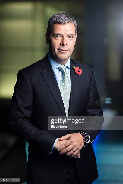Scott Egan chief financial officer of RSA Insurance Group Plc poses for a photograph following a Bloomberg Television interview in London UK on...