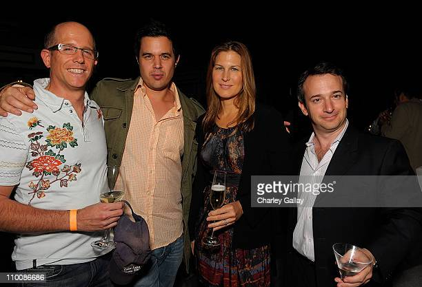 Scott Einbinder Ingo Volkhammer Julienne Davis and a guest attend the Lightning Entertainment Group AFM 2008 Party at the Viceroy Hotel on November 7...