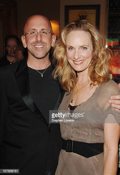 Scott Elliott director and Lisa Emery during The Prime of Miss Jean Brodie Opening Night at Pigalle in New York City New York United States