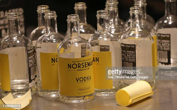 Scott Ervin applied final labels to the bottles after filling with Norseman Vodka on 1/10/14. The year starts off with a high-proof bang, as...
