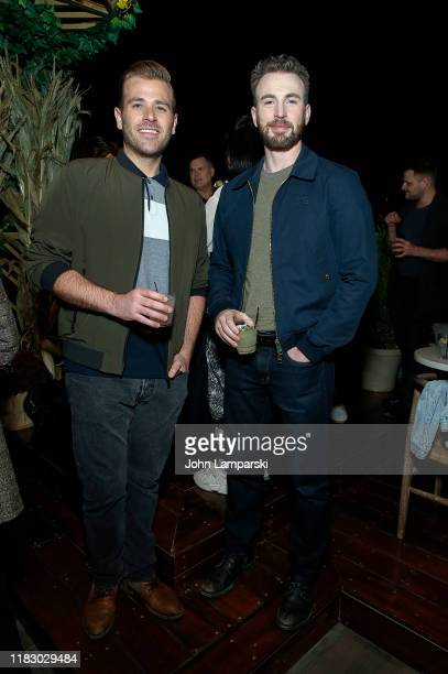 Scott Evans and Chris Evans attend NewFest Opening Night After Party at Gansevoort Hotel on October 23, 2019 in New York City.