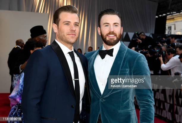 Scott Evans and Chris Evans attend the 91st Annual Academy Awards at Hollywood and Highland on February 24 2019 in Hollywood California