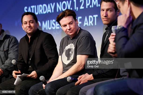 Scott Feinberg, Mike Myers, and Gabe Polsky speak on stage at the 'Documentary Roundtable Discussion' during the 17th Annual Savannah Film Festival...