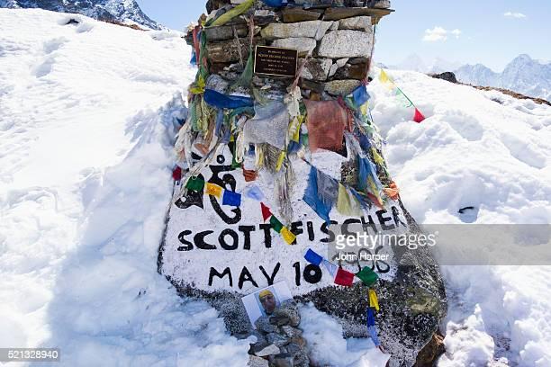 Scott Fischer Memorial, Everest Trek, Khumbu Valley, Nepal