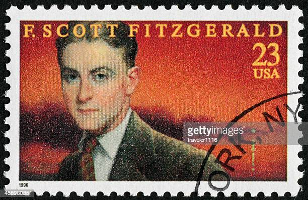 f. scott fitzgerald stamp - famous authors stock pictures, royalty-free photos & images