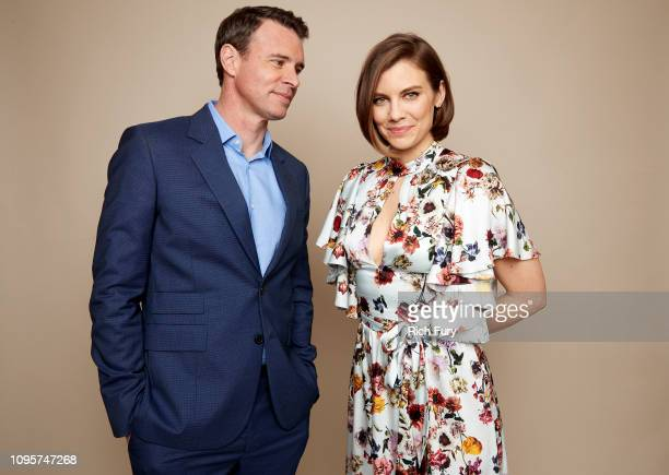 Scott Foley and Lauren Cohan of ABC's 'Whiskey Cavalier' pose for a portrait during the 2019 Winter TCA Getty Images Portrait Studio at The Langham...