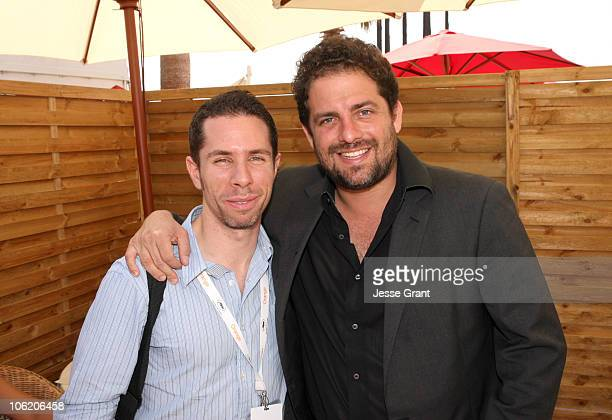 Scott Foundas and Brett Ratner during 2007 Cannes Film Festival - In Conversation with Brett Ratner at American Pavilion in Cannes, France.
