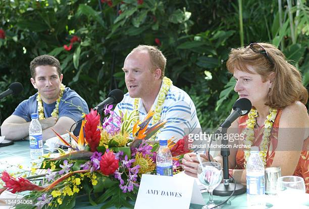 Scott Foundas, Cassian Elwes and Amy Dawes during 2004 Maui Film Festival - Panel Discussions at Wailea Marriott in Maui, Hawaii, United States.