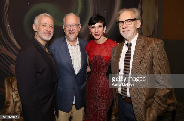 Scott Frankel Doug Wright Amy Fine and Michael Korie attend Dramatists Guild Fund Salons Presents 'War Paint' at Core club on September 26 2017 in...