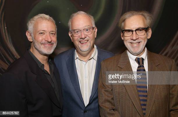 Scott Frankel Doug Wright and Michael Korie attend Dramatists Guild Fund Salons Presents 'War Paint' at Core club on September 26 2017 in New York...